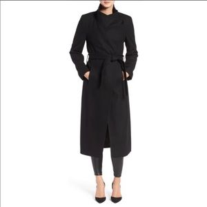 Kenneth Cole Fencer Melton Wool Maxi Coat Sz 8